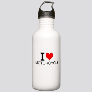 I Love Motorcycles Water Bottle