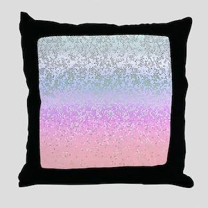 Glitter Star Dust 11 Throw Pillow
