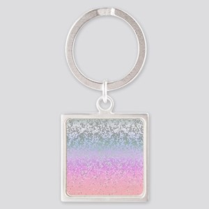 Glitter Star Dust 11 Square Keychain