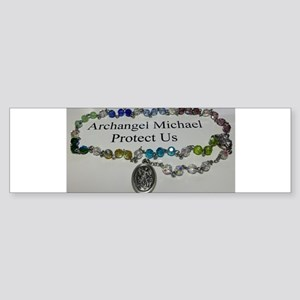 Archangel Michael Protect Us Bumper Sticker