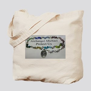 Archangel Michael Protect Us Tote Bag