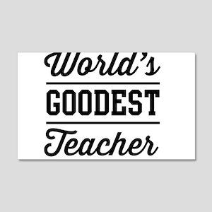 World's goodest teacher Wall Decal