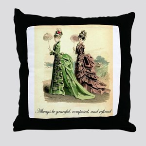 Be Refined: Victorian Etiquette Throw Pillow