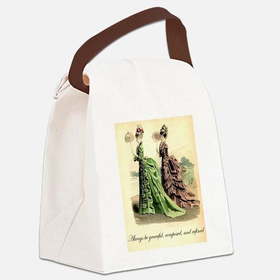 Be Refined: Victorian Etiquette Canvas Lunch Bag