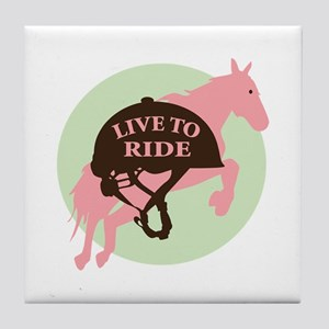Live To Ride Tile Coaster