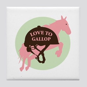 Love To Gallop Tile Coaster