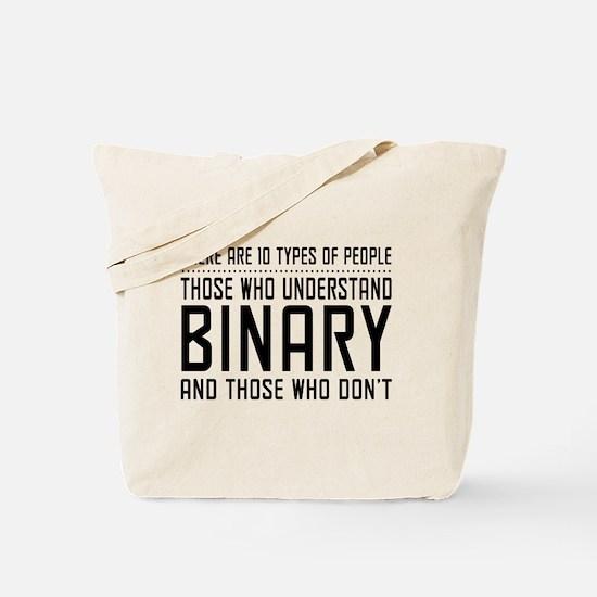 10 types of people binary Tote Bag