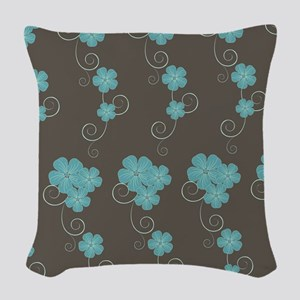 Floral Pattern Woven Throw Pillow