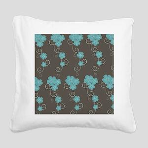 Floral Pattern Square Canvas Pillow