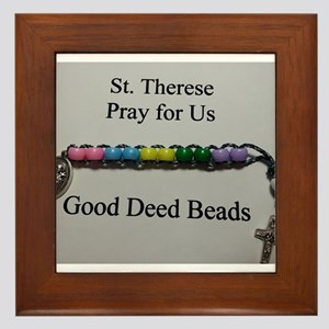 St. Therese Good Deed Beads Framed Tile