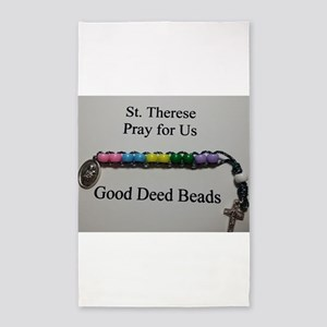 St. Therese Good Deed Beads 3'x5' Area Rug