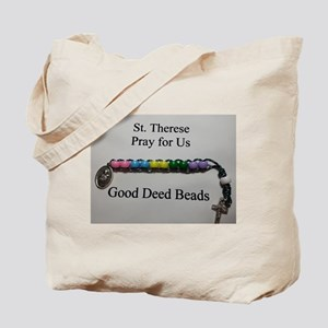 St. Therese Good Deed Beads Tote Bag