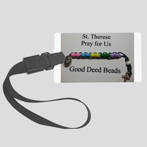 St. Therese Good Deed Beads Luggage Tag