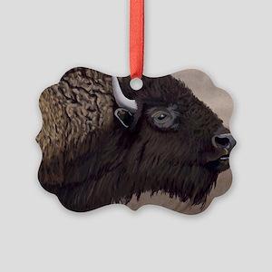 Bison Picture Ornament