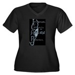 ICAR Women's Plus Size V-Neck Dark T-Shirt