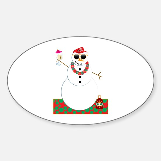 Snowman Party Decal