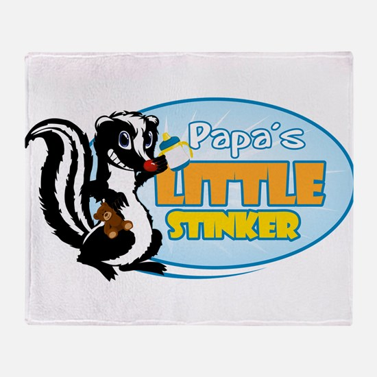 Papa's Little Stinker Throw Blanket