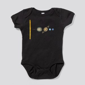 Scale Solar System Planets Baby Bodysuit