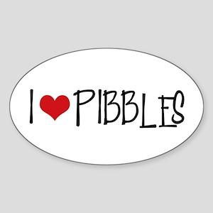 I Love Pibbles! Oval Sticker
