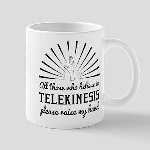 Telekinesis raise my hand Mugs
