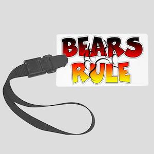 Bear Pride Bears Rule Large Luggage Tag