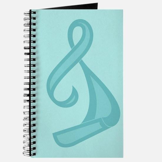 """""""Teal Ribbon Twist"""" Journal"""