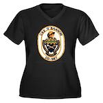 USS O'BANNON Women's Plus Size V-Neck Dark T-Shirt