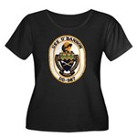 USS O'BA Women's Plus Size Scoop Neck Dark T-Shirt