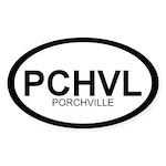 PCHVL Oval Sticker