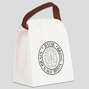 BYOB bring your own brain Canvas Lunch Bag