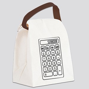 Calculator boobies Canvas Lunch Bag