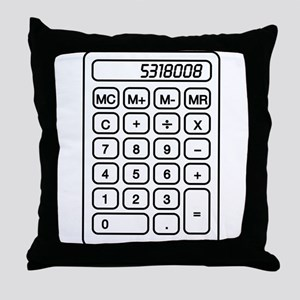 Calculator boobies Throw Pillow