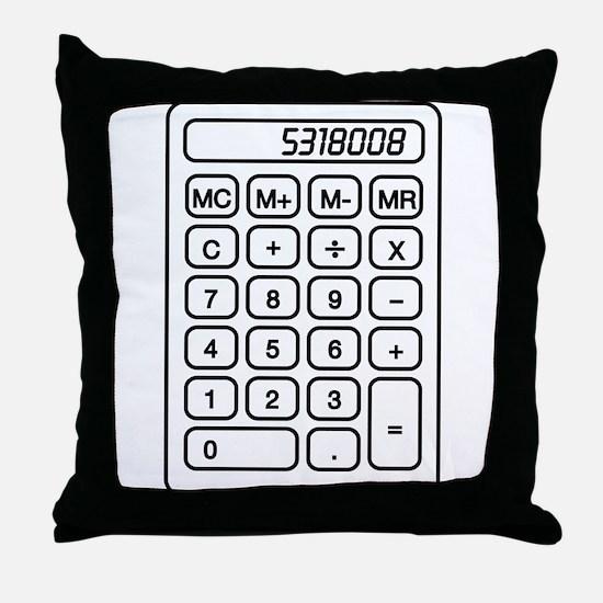 Calculator boobies Throw Pillow