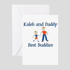 Kaleb & Daddy - Best Buddies Greeting Cards (Packa