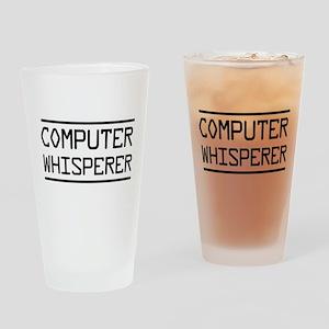 Computer whisperer Drinking Glass