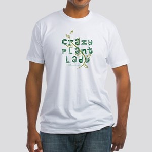 Crazy Plant Lady Fitted T-Shirt