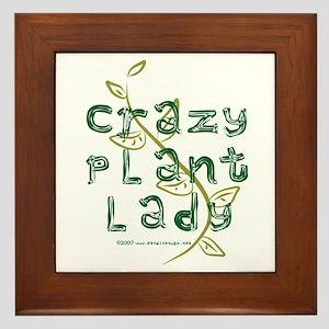 Crazy Plant Lady Framed Tile