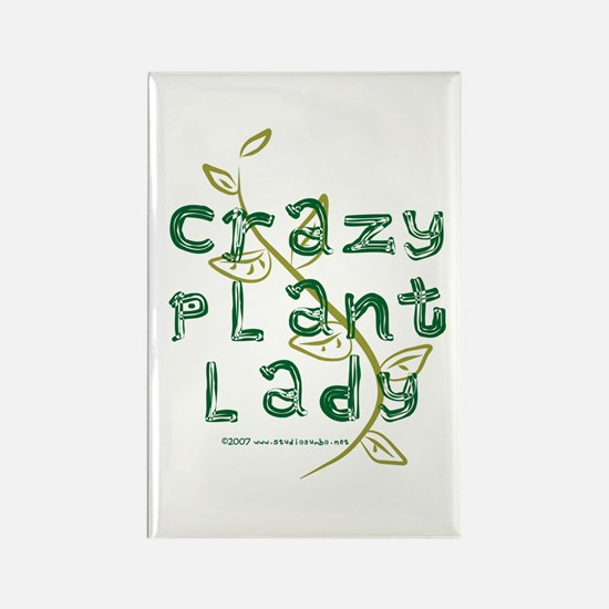 Crazy Plant Lady Rectangle Magnet (10 pack)