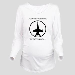 ghost1 Long Sleeve Maternity T-Shirt