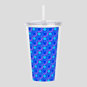 Blue Popcorn Dots Acrylic Double-Wall Tumbler