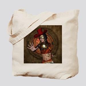 Steampunk women with hat Tote Bag