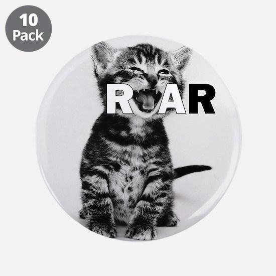 "KITTEN ROAR 3.5"" Button (10 pack)"