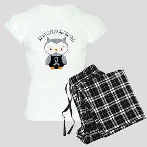 Brain Cancer Gray Owl Women's Light Pajamas