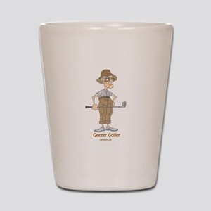 Geezer Golfer Shot Glass