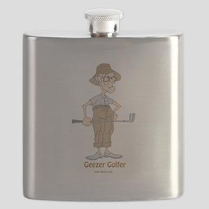 Geezer Golfer Flask