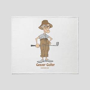 Geezer Golfer Throw Blanket
