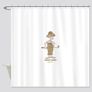 Geezer Golfer Shower Curtain