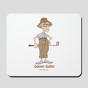 Geezer Golfer Mousepad