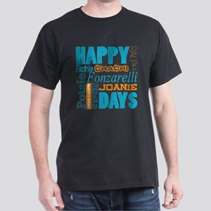 Happy Days Characters Dark T-Shirt