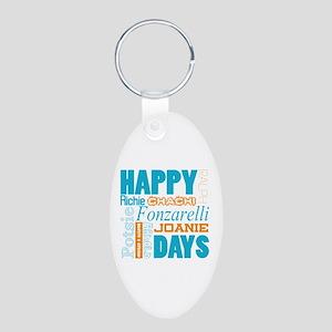 Happy Days Characters Aluminum Oval Keychain